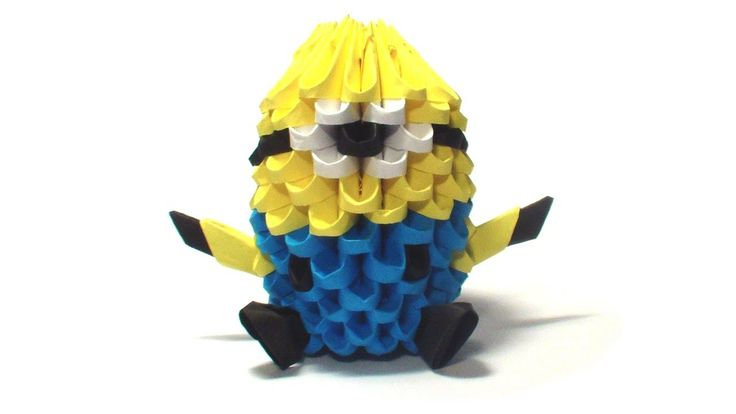 3D origami mini minion tutorial
