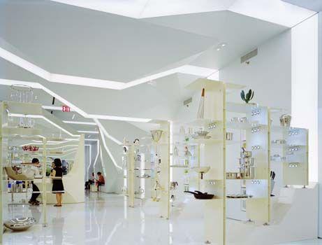 Alessi Flagship Store New York, NY lighting: tillotson design associates