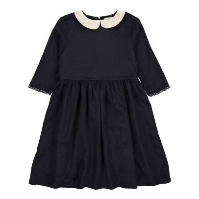 Les coyotes de Paris Silk Jolie Dress with Peter Pan Collar-listing