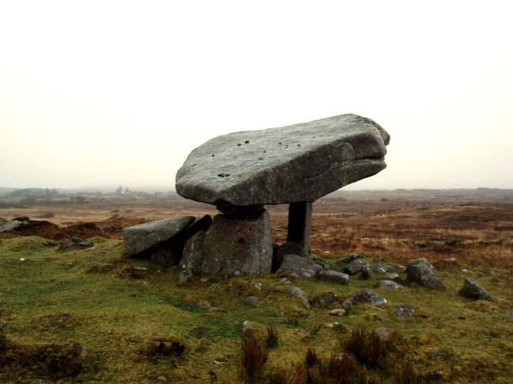Kilclooney Dolmen, an ancient portal tomb dating back to circa 2,000 BC in Ardara, County Donegal