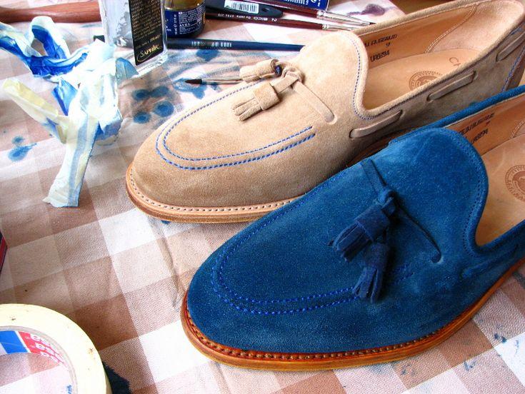 Mrvintage Malowanie Butow Zamszowych 17 Shoes Boat Shoes Fashion