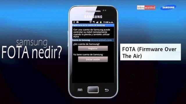 FOTA nedir, FOTA ile güncelleme nasıl yapılır? (samsung)