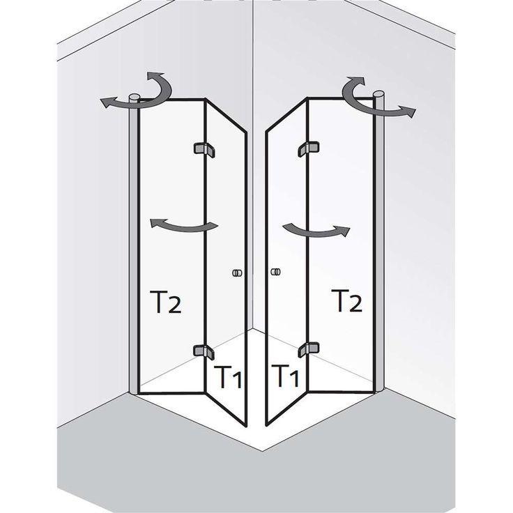 Einstiegstüren Duschkabine eckeinstieg, Duschkabine