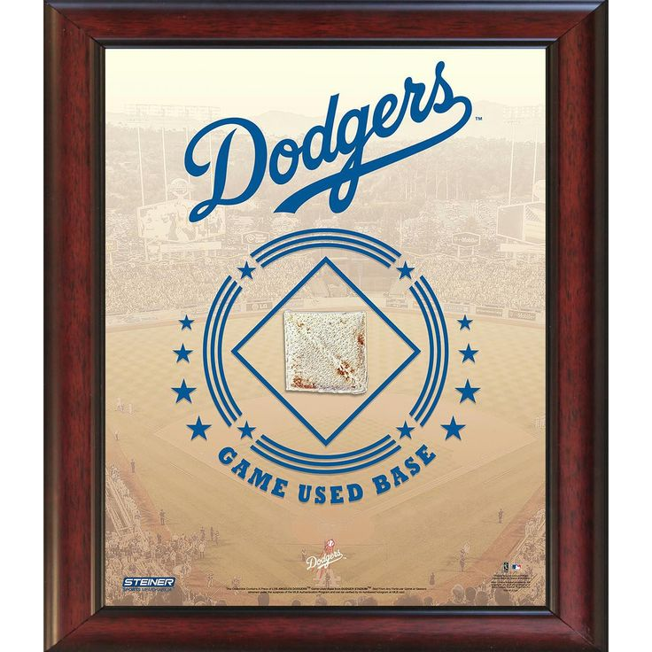 Los Angeles Dodgers Game Used Base 11x14 Stadium Collage