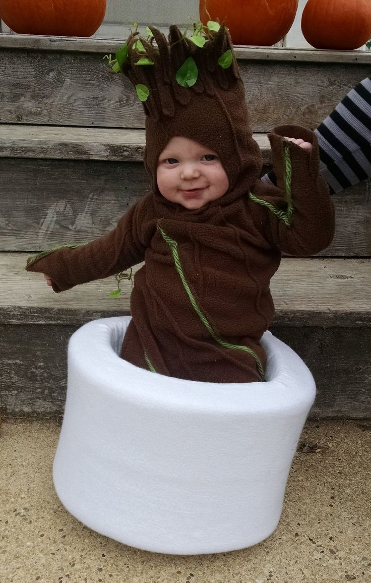 D'awww, baby Groot costume <3