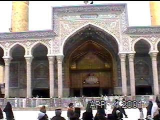 View of the roza of Imam Hussain(a.s.) from the entrance facing the Tilla-e-Zianabiya