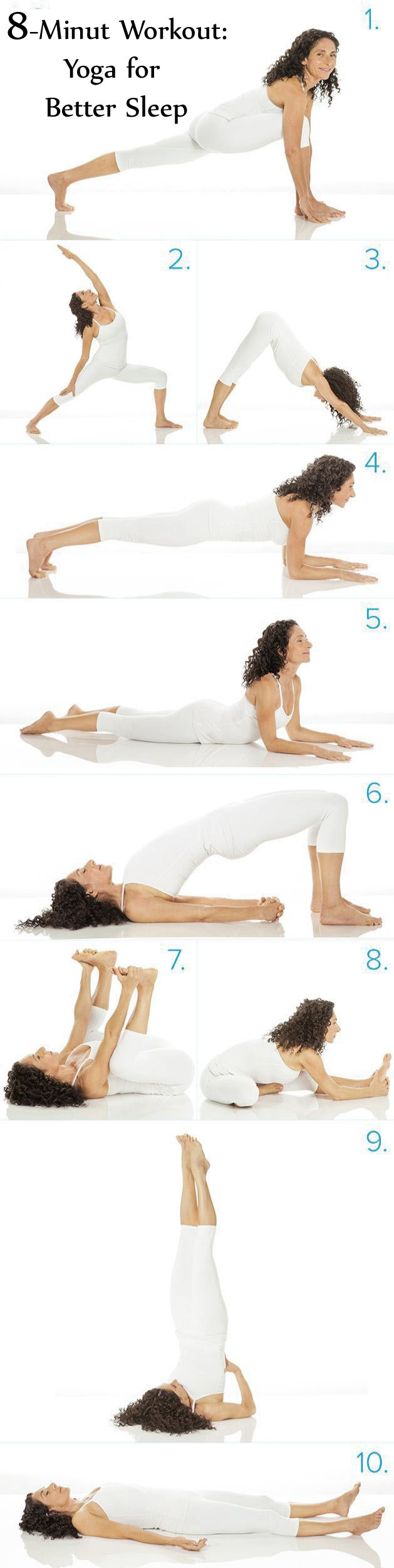 This is a 5-move yoga routine to bring relaxation and prepare you before  sleep. All the part you can do lying in bed! So get adrift to dream through  following this easy five-move yoga routine.Discover more: Yoga for Better Sleep  insomnia, Yoga for Better Sleep falling asleep.
