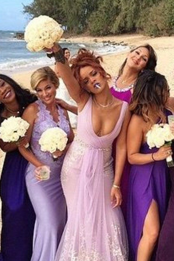 18 best say i do by karisa weddings images on pinterest gown rihanna is a total boss as a bridesmaid at a 420 wedding ombrellifo Image collections