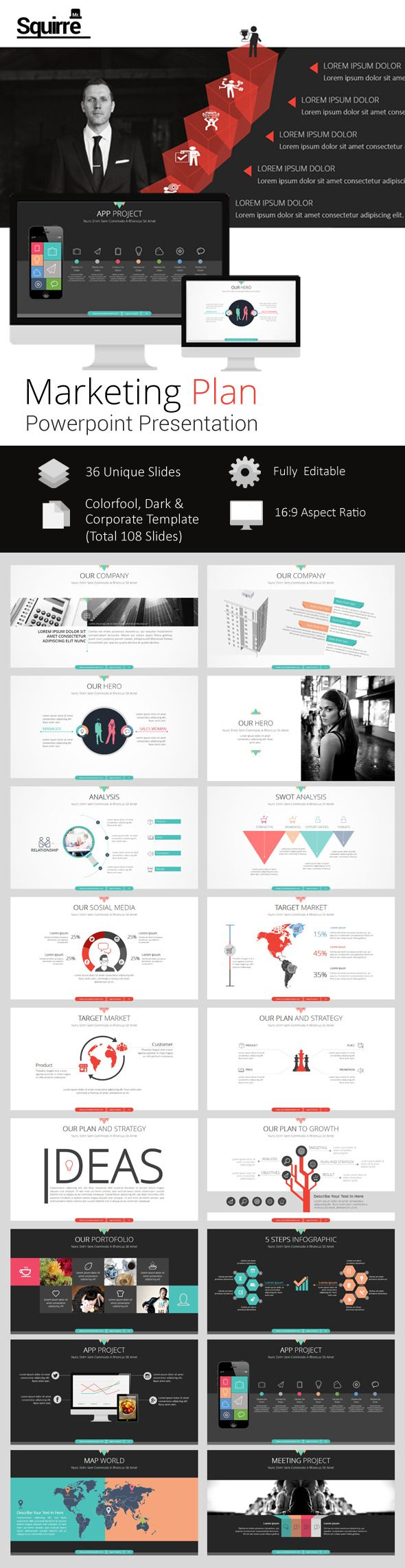 Marketing Plan Powerpoint Presentation Template #powerpoint #powerpointtemplate…