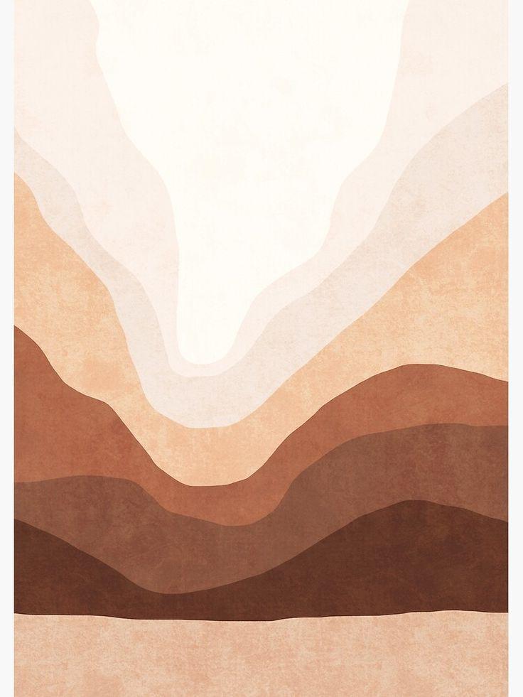 Beige Artwork Neutral Art Landscape Poster Landscape Canvas