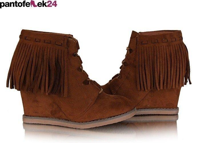 Botki w kolorze camel / Camel boots / 29,90 PLN #brown #boots #botki #shoes #obuwie #camel #sneakers