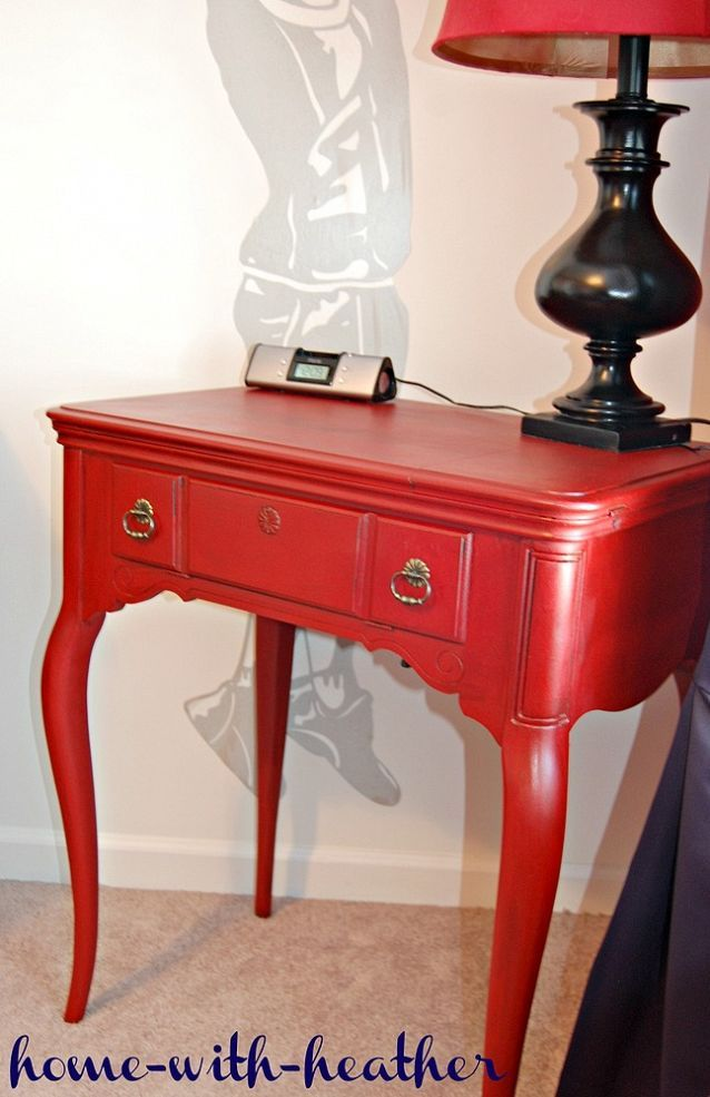 Apply Chinese Red Paint For An Instant Uplift To A Trashed Table.