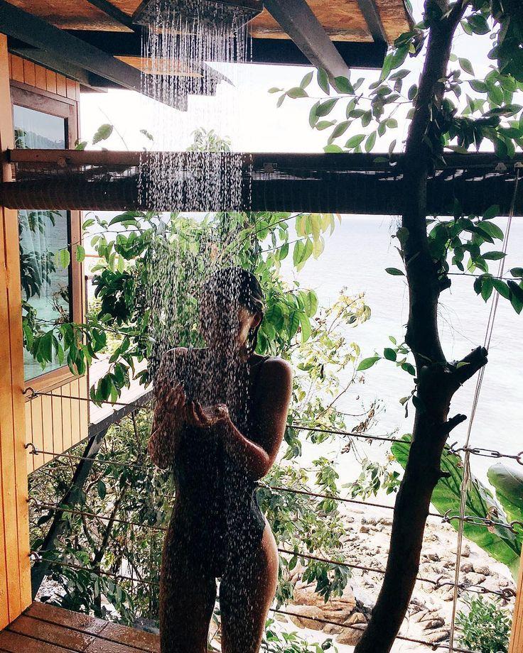 outdoor shower // great views