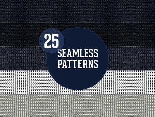 25 Seamless Web Patterns (JPEG + .PAT)