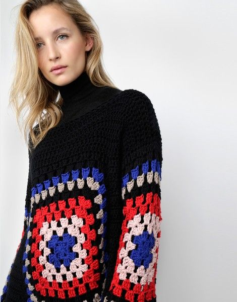 Get the ultimate breezy boho look in the Dot Cotton Sweater. Featuring an airy open stitch and large multi-coloured square motifs, the Dot Cotton Sweater is...