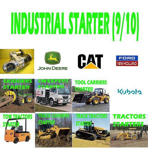 Industrial starter (9/10) SKIDDERS. SWEEPERS, TOOL CARRIERS, TOW TRACTOR, TRACK LAODERS, TRACK TRACTORS, TRACTOR SHOVELS, TRACTORSSTARTER