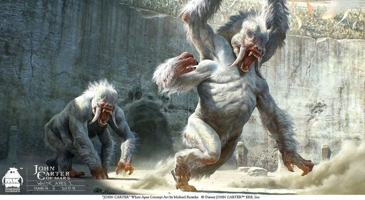 john carter - early white apes concept by michael kutsche