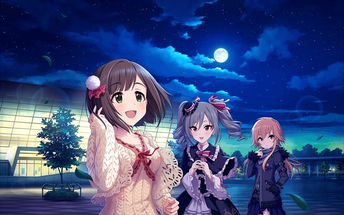 Download wallpapers Ninomiya Asuka, Miku Maekawa, Mayu Sakuma, manga, anime characters, The Idolmaster Cinderella Girls, Idolmaster