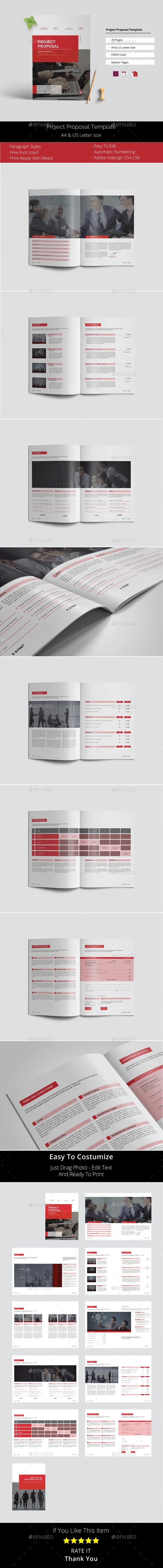 Project Proposal Template InDesign INDD - 20 Pages A4 & US Letter Size