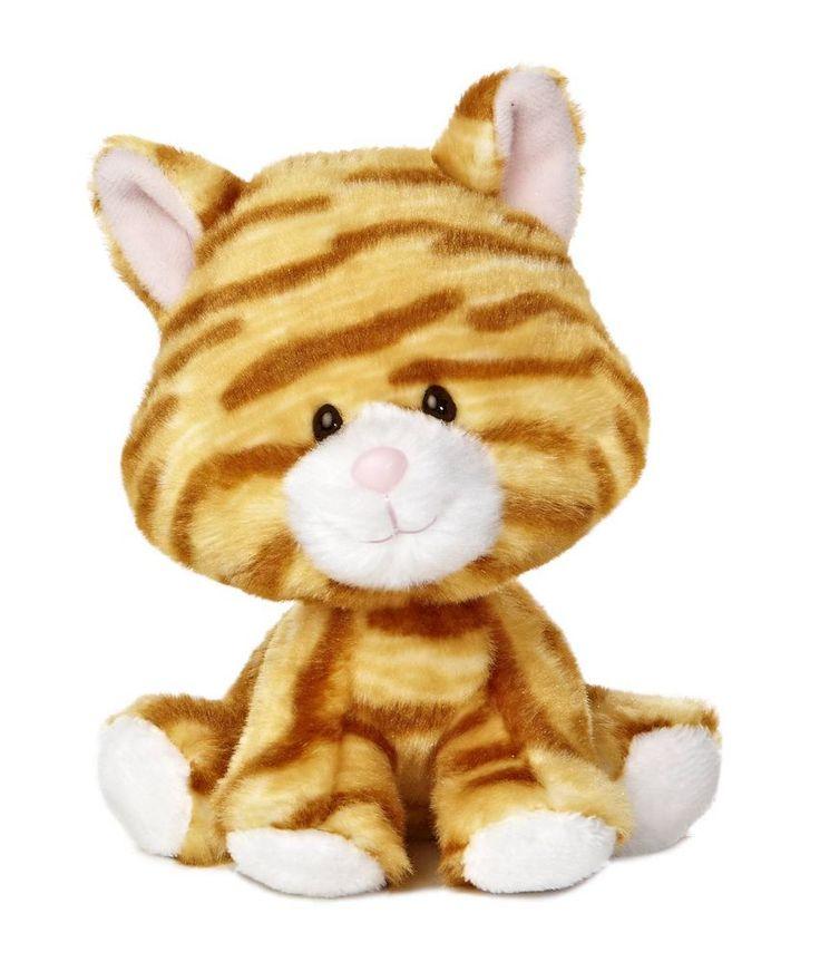 "6"" Aurora Plush Tabby Cat Wobbly Bobblees Kitty Stuffed"