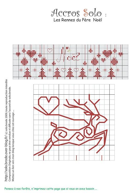 Noel & Redwork Reindeer  Free  Gallery.ru / Фото #7 - varios - stepaniya13