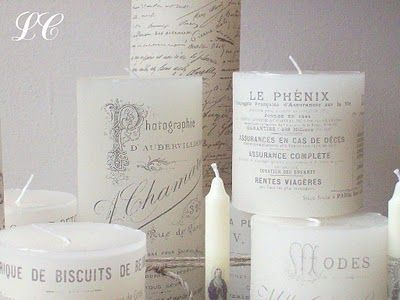 tutorial for candles-- think to add your monogram or the words of your wedding invite and make it the unity candle - so unique!