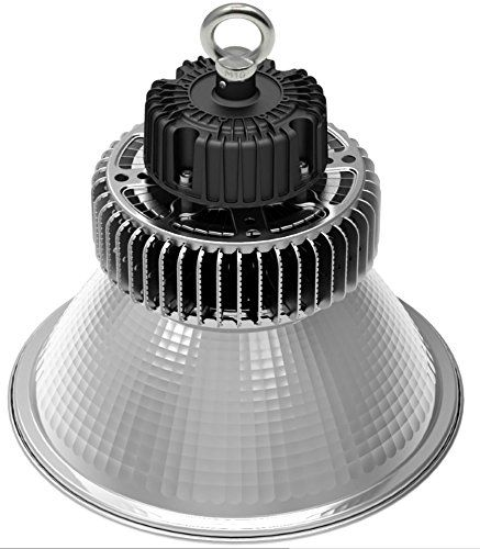 (100 Watt High Bay LED Lighting - 12,000 Lumen - High Bay LED Lights - High Efficiency 120 Lumen to Watts - Dimmable & CA Title 24 Compliant - Bright White 5000K Warehouse Lighting - Retail Lights) Buy-Accessories.net