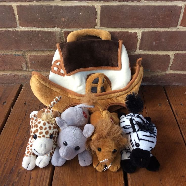 Imagine Nation Noah's Ark Plush Toy Animal Sounds Elephant Lion Giraffe Zebra | eBay