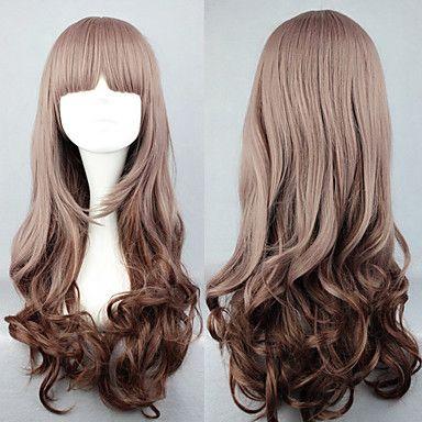 lolita peruk inspirerad av min lilla söta lutning brun 60cm avslappnad – EUR € 10.39