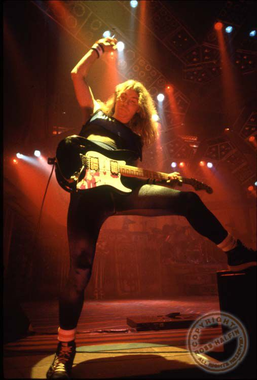 Dave Murray - Iron Maiden by Ross Halfin Photography.
