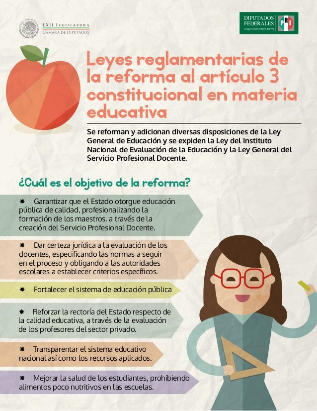 Leyes reglamentarias de la reforma al artículo 3 constitucional en materia educativa Se reforman y adicionan diversas disp...