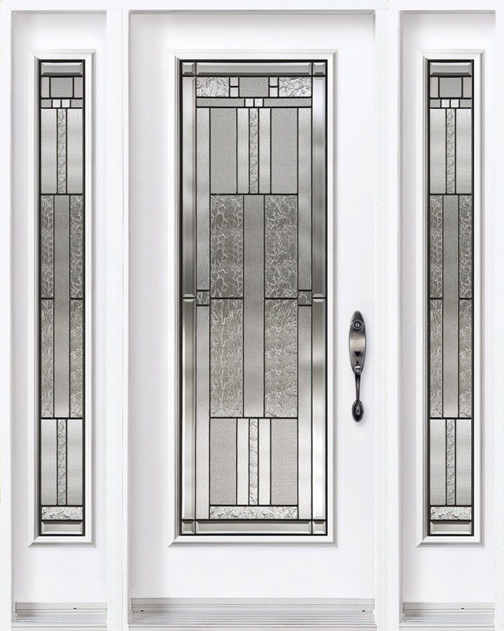 Single entry door with two sidelites from classic for Single entry door with glass
