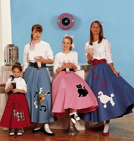1950s Poodle Skirt Cirlce skirt... When I was little my town did a 50's themed party and my mom made me this scottie-dog skirt