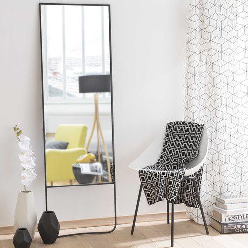 Spiegel STENFORD mit schwarzem Metallrahmen, H 160 cm