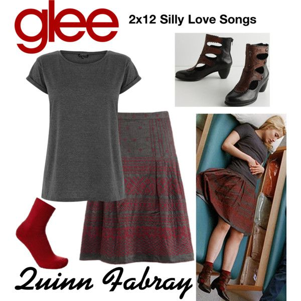 Quinn Fabray (Glee) : 2x12 by aure26 on Polyvore featuring polyvore, fashion, style, Warehouse, Falke, clothing and glee