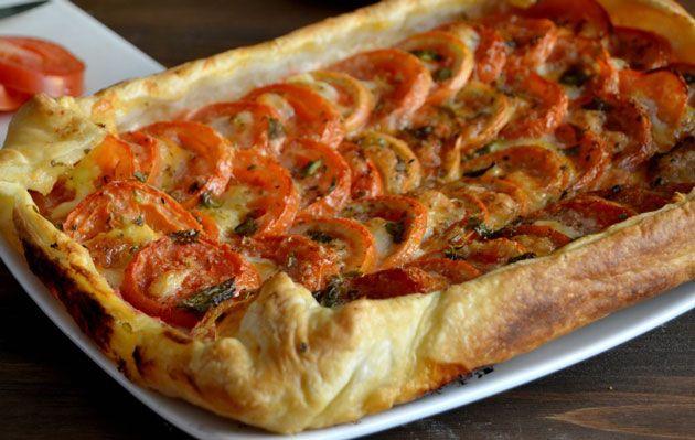Tarte à la tomate et à la moutarde WW, recette d'une savoureuse tarte sans crème et sans matière grasse, facile et simple à réaliser pour accompagner vos plats de viande et de poisson.