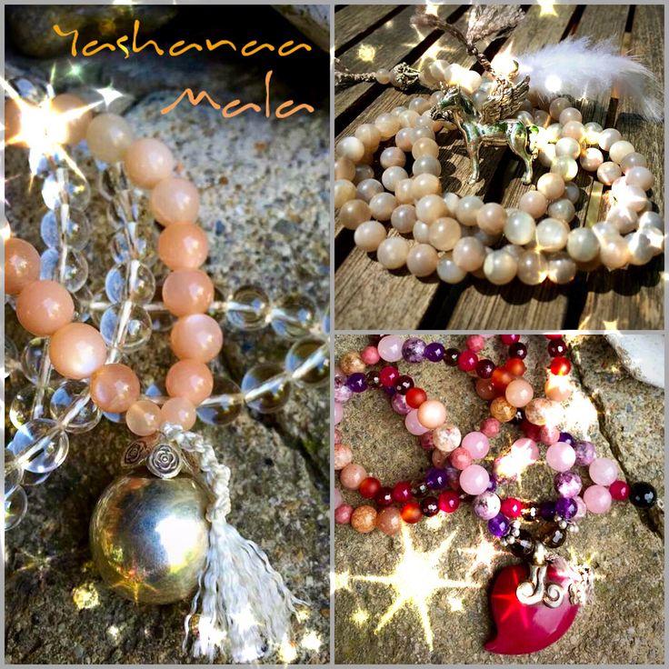 ❤️individuelle... persönliche GebetsKetten... deine Wünsche...deine Themen... deine Energie... deine Kraft...☺️  weben sich in deine Mala mit ein... als GebetsKette... zur MantrenMeditation... als SchmuckStück... hier ein paar Variationen der VielFalt der YashanaaMala*s... LOVE that *work*... ist ja eigentlich eher Magie und SeelenZauberei❤️  Namasté vom See Katrin*