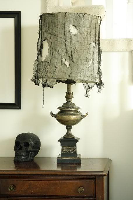 Black cheese cloth for Halloween decor...love