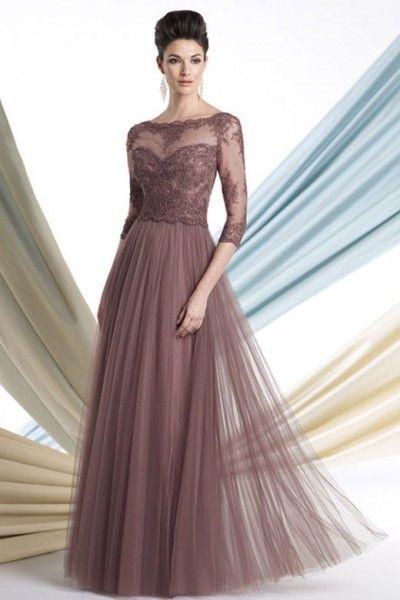 vestidos para mãe da noiva com renda e tule