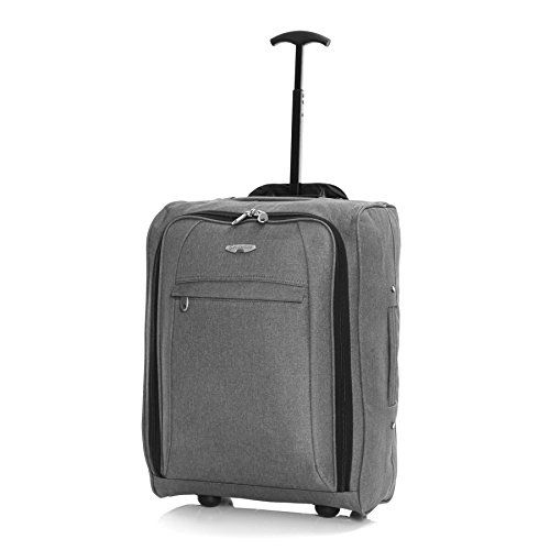BL Twill Cabin Approved Trolley Bag, Grey: Amazon.co.uk: Luggage