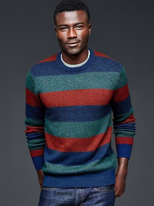 Herringbone stripe sweater   Gap