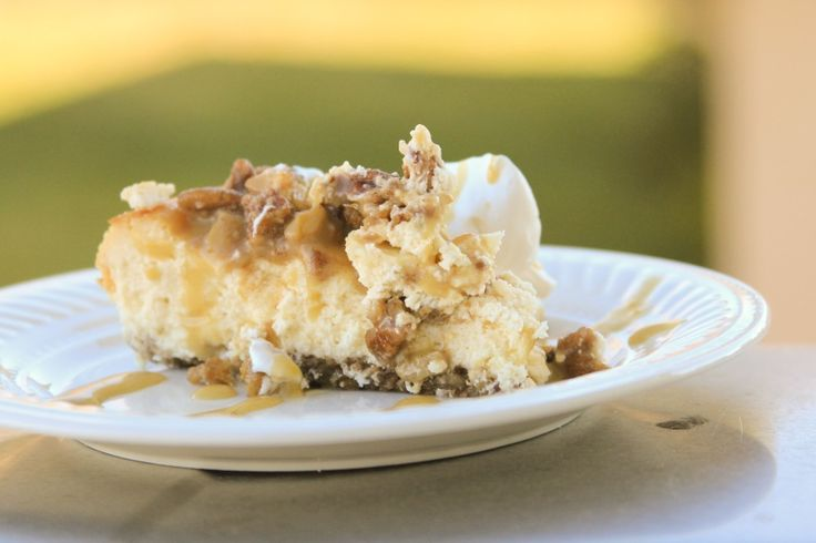 Low-Carb, Sugar-Free, Gluten-Free Caramel Apple Cheese cake. The bounty of autumn for only 7 net carbs in an easy to make, gourmet cheesecake.
