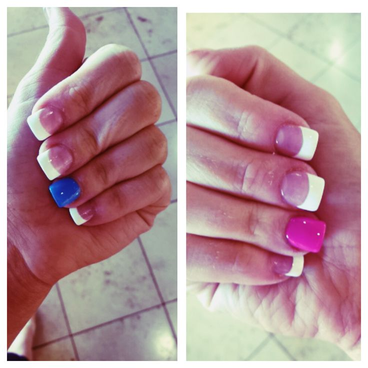 Baby gender reveal party nails