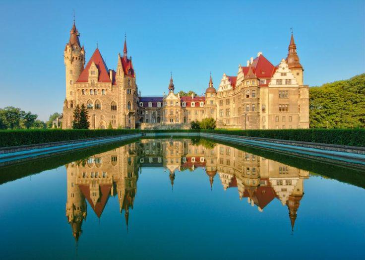 Zamek w Mosznie, Dolny Śląsk, Poland