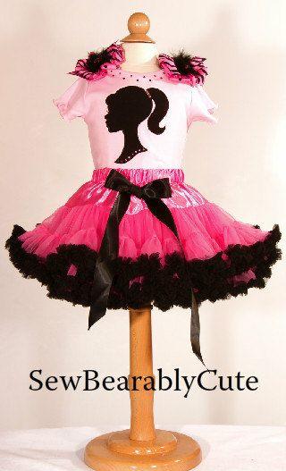Barbie PettiSkirt Outfit by SewBearablyCute on Etsy, $50.00