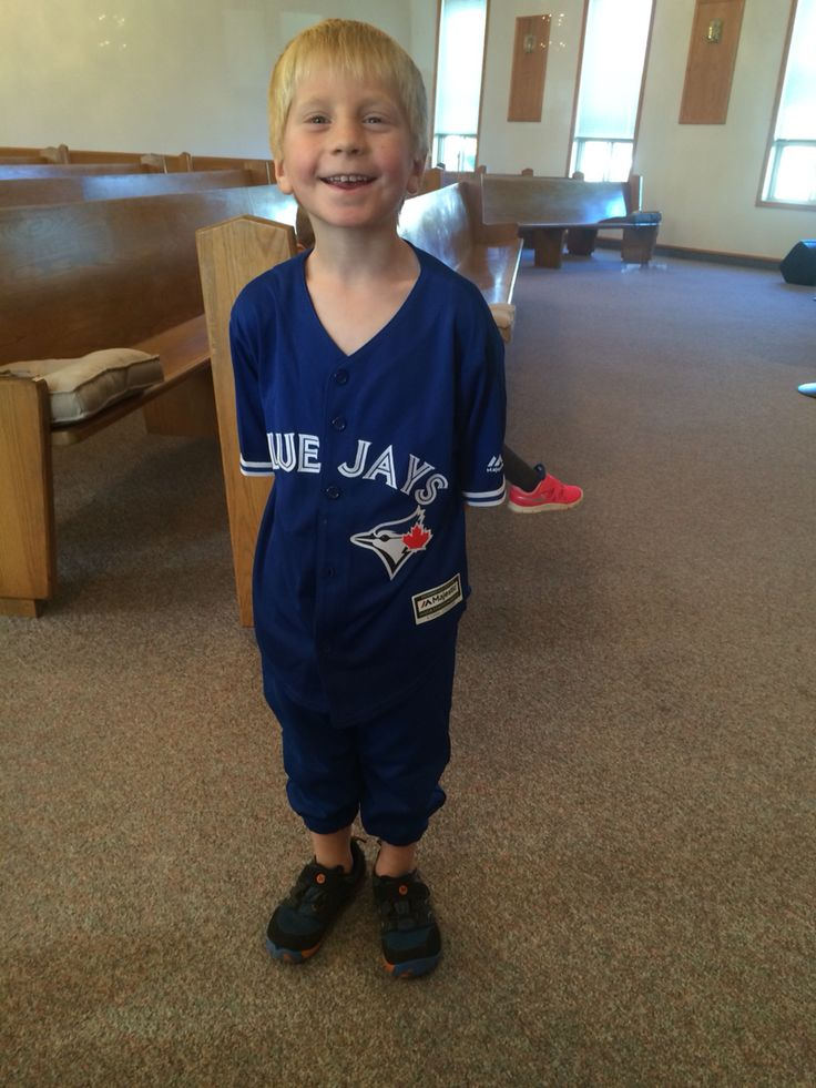 He even wears his Jays stuff to church
