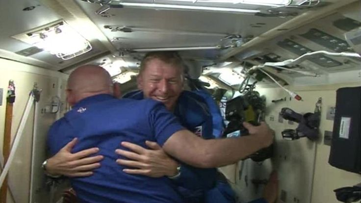 UK astronaut Tim Peake boards the International Space Station, which will be his home for the next six months, after a six-hour flight through space.