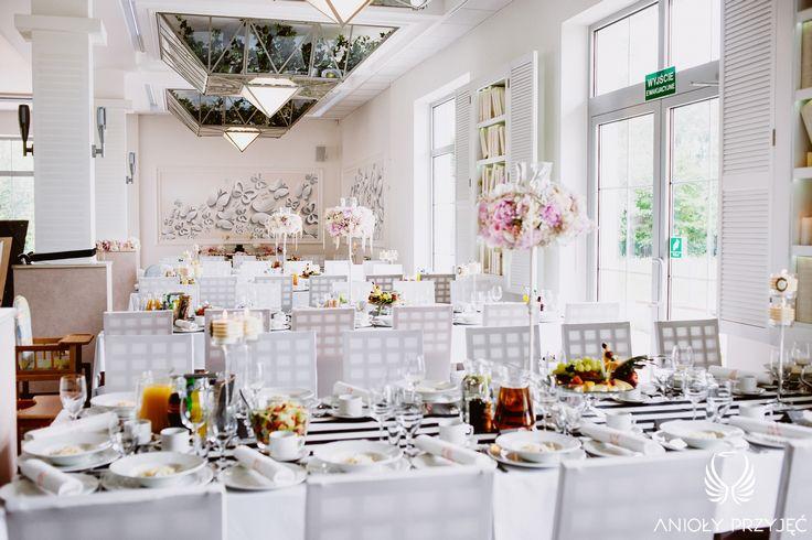 Glamour Wedding,Black&white,Centerpieces/ Wesele glamour,Dekoracje stołów,Czarno-białe,Anioły Przyjęć