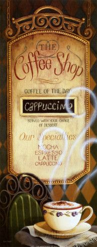 Coffee Shop Menu Posters by Lisa Audit at AllPosters.com