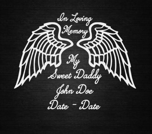 In loving memory wings window decal by countryheartdesignz on etsy